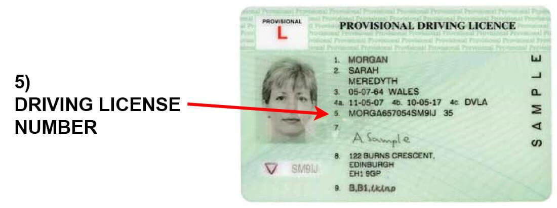 Drivers License column 5
