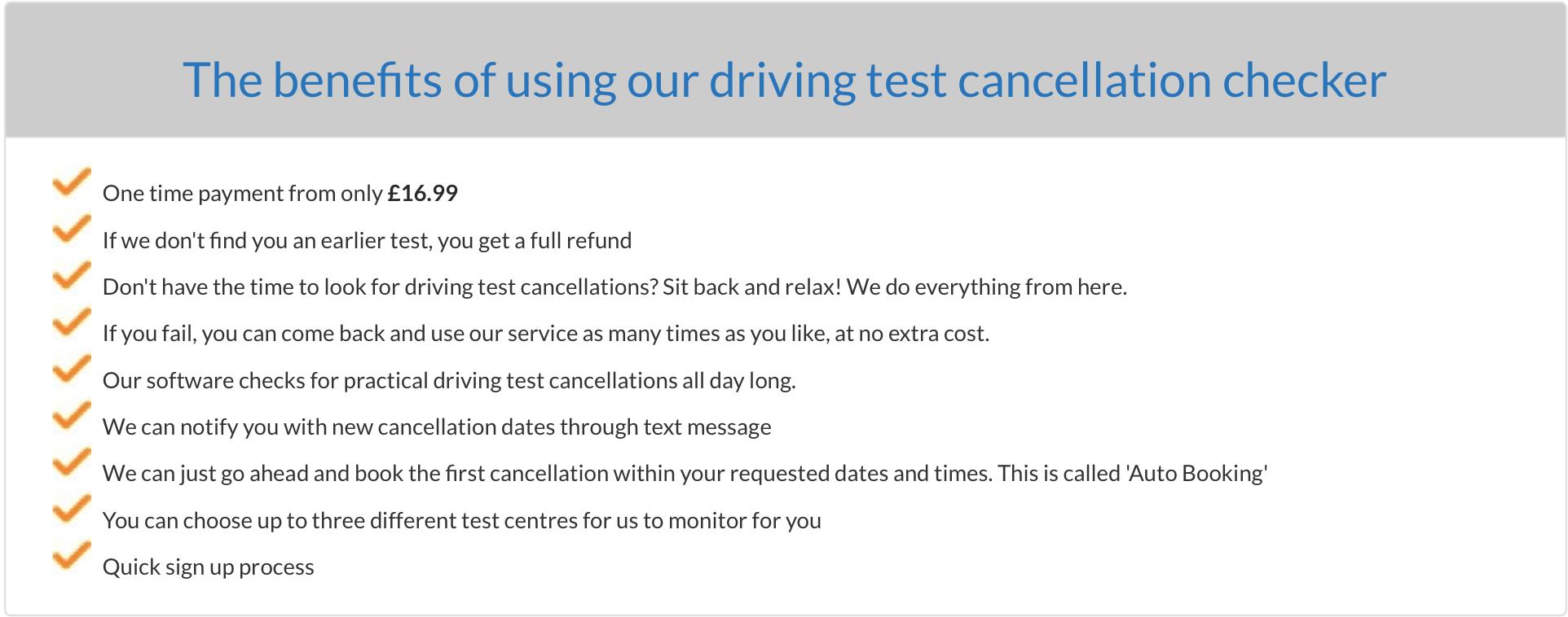 failed test
